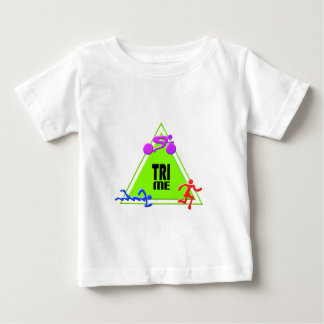 TRI Triathlon Swim Bike Run TRIANGLE TRI ME Design Baby T-Shirt
