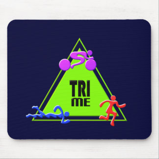 TRI Triathlon Swim Bike Run TRIANGLE TRI ME Design Mouse Pad