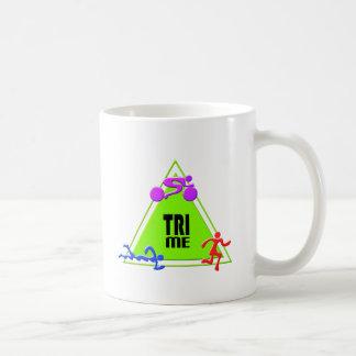 TRI Triathlon Swim Bike Run TRIANGLE TRI ME Design Basic White Mug