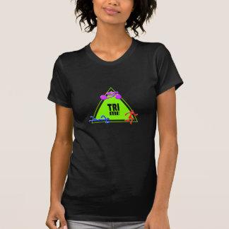 TRI Triathlon Swim Bike Run TRIANGLE TRI ME Design Tee Shirts