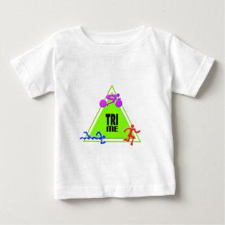 TRI Triathlon Swim Bike Run TRIANGLE TRI ME Design Tshirts