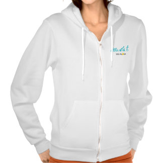 Tri with Aloha Flex Fleece Zip Hoodie - Light