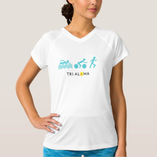 Tri with Aloha Sport-Tek Fitted Performance V-Neck T-Shirt
