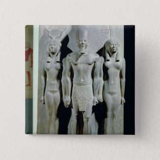 Triad of Menkaure  with the goddess Hathor 15 Cm Square Badge