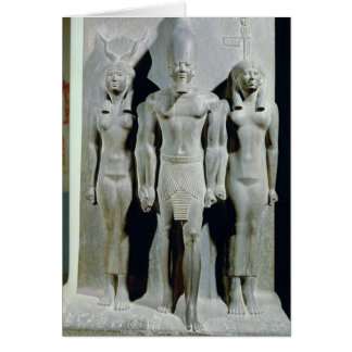 Triad of Menkaure  with the goddess Hathor Card