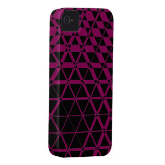 Triagonal Ebony (Red-Violet) iPhone 4S Case