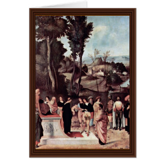 Trial By Fire Of The Moses Boy By Giorgione Greeting Card