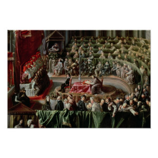 Trial of Galileo, 1633 Poster