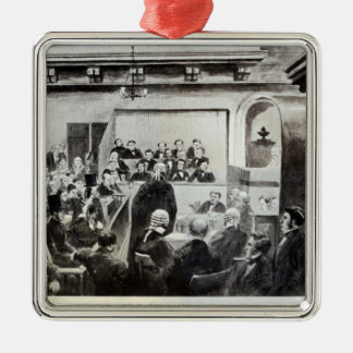 Trial of Madeleine Smith, 1857 Silver-Colored Square Decoration