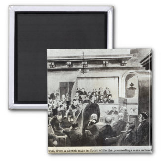 Trial of Madeleine Smith, 1857 Square Magnet