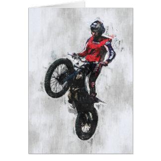 Trials rider birthday card