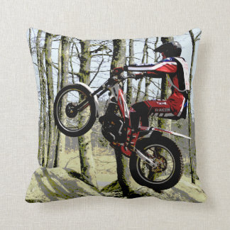 Trials rider Mojo throw square pillow