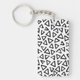 Triangels, Geometric  Scandinavian Design Pattern Key Ring