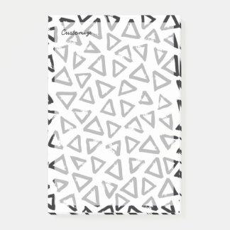 Triangels, Geometric  Scandinavian Design Pattern Post-it Notes