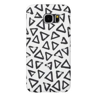 Triangels, Geometric  Scandinavian Design Pattern Samsung Galaxy S6 Cases