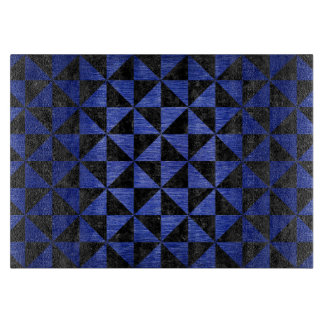 TRIANGLE1 BLACK MARBLE & BLUE BRUSHED METAL CUTTING BOARD