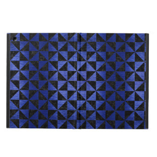 TRIANGLE1 BLACK MARBLE & BLUE BRUSHED METAL iPad AIR COVER