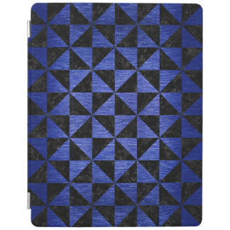 TRIANGLE1 BLACK MARBLE & BLUE BRUSHED METAL iPad COVER