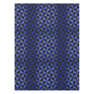 TRIANGLE1 BLACK MARBLE & BLUE BRUSHED METAL TABLECLOTH