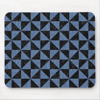 TRIANGLE1 BLACK MARBLE & BLUE DENIM MOUSE PAD