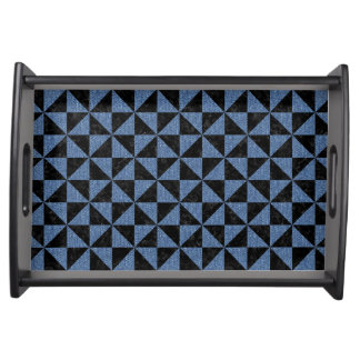 TRIANGLE1 BLACK MARBLE & BLUE DENIM SERVING TRAY