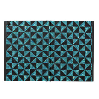 TRIANGLE1 BLACK MARBLE & BLUE-GREEN WATER iPad AIR COVER