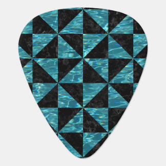 TRIANGLE1 BLACK MARBLE & BLUE-GREEN WATER PLECTRUM