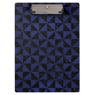 TRIANGLE1 BLACK MARBLE & BLUE LEATHER CLIPBOARD