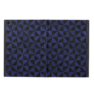 TRIANGLE1 BLACK MARBLE & BLUE LEATHER iPad AIR COVER
