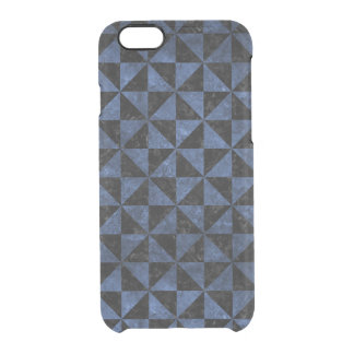 TRIANGLE1 BLACK MARBLE & BLUE STONE CLEAR iPhone 6/6S CASE
