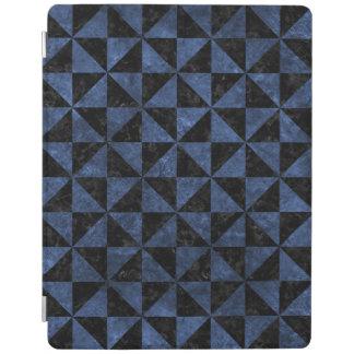 TRIANGLE1 BLACK MARBLE & BLUE STONE iPad COVER