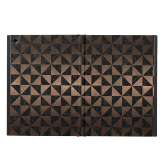 TRIANGLE1 BLACK MARBLE & BRONZE METAL COVER FOR iPad AIR