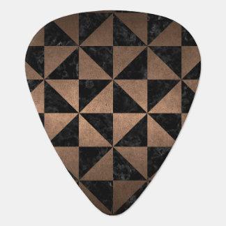 TRIANGLE1 BLACK MARBLE & BRONZE METAL GUITAR PICK