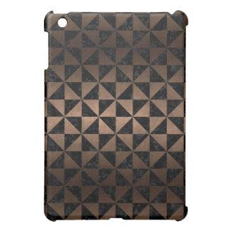 TRIANGLE1 BLACK MARBLE & BRONZE METAL iPad MINI CASES
