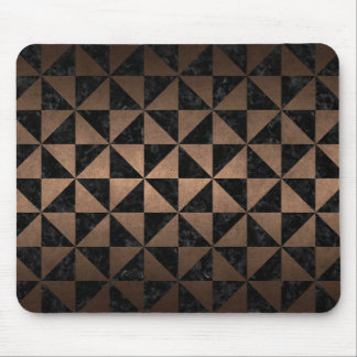 TRIANGLE1 BLACK MARBLE & BRONZE METAL MOUSE PAD