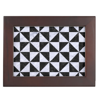 TRIANGLE1 BLACK MARBLE & WHITE MARBLE MEMORY BOXES