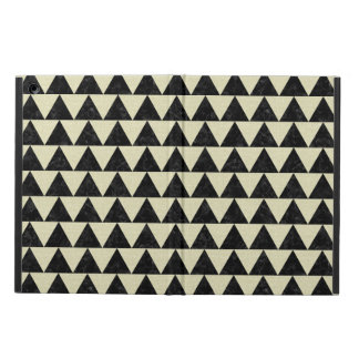 TRIANGLE2 BLACK MARBLE & BEIGE LINEN COVER FOR iPad AIR