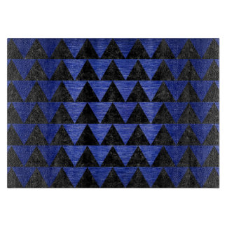 TRIANGLE2 BLACK MARBLE & BLUE BRUSHED METAL CUTTING BOARD