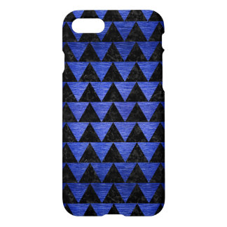 TRIANGLE2 BLACK MARBLE & BLUE BRUSHED METAL iPhone 8/7 CASE