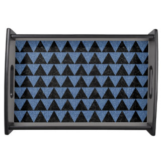 TRIANGLE2 BLACK MARBLE & BLUE DENIM SERVING TRAY