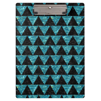 TRIANGLE2 BLACK MARBLE & BLUE-GREEN WATER CLIPBOARD