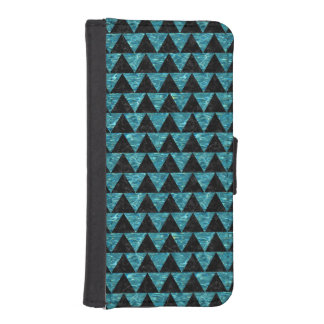 TRIANGLE2 BLACK MARBLE & BLUE-GREEN WATER iPhone SE/5/5s WALLET CASE