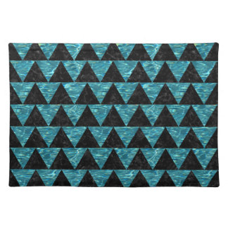 TRIANGLE2 BLACK MARBLE & BLUE-GREEN WATER PLACEMAT
