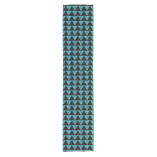 TRIANGLE2 BLACK MARBLE & BLUE-GREEN WATER SHORT TABLE RUNNER