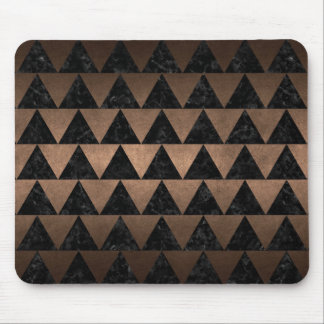 TRIANGLE2 BLACK MARBLE & BRONZE METAL MOUSE PAD