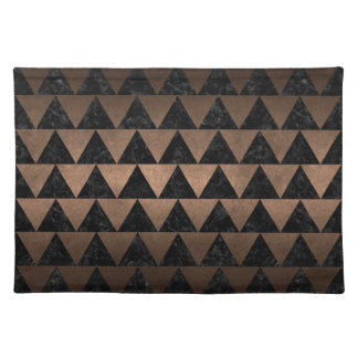 TRIANGLE2 BLACK MARBLE & BRONZE METAL PLACEMAT