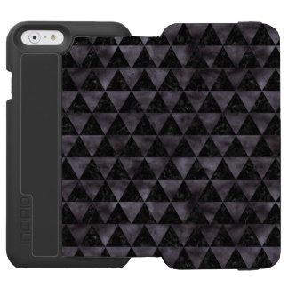TRIANGLE3 BLACK MARBLE & BLACK WATERCOLOR INCIPIO WATSON™ iPhone 6 WALLET CASE