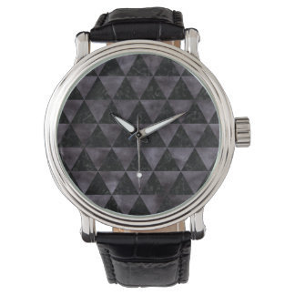 TRIANGLE3 BLACK MARBLE & BLACK WATERCOLOR WATCH