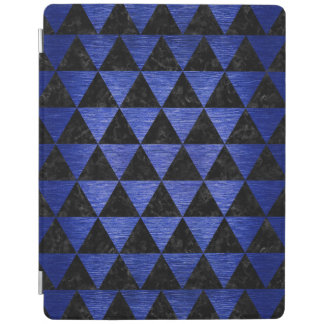 TRIANGLE3 BLACK MARBLE & BLUE BRUSHED METAL iPad COVER