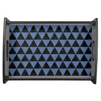 TRIANGLE3 BLACK MARBLE & BLUE DENIM SERVING TRAY